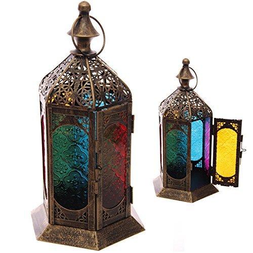 style-marocain-dtaille-de-frette-en-verre-et-en-mtal-lanterne-pds