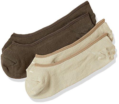Spykar Men's Cotton Liners Socks (Pack of 2) (SPY/PDMS/2AF17_BEIGE/ASH_20.00 cm)