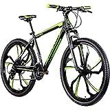 Galano 650B MTB Hardtail Mountainbike 27,5 Zoll Primal Fahrrad Mountain Bike (schwarz/grün, 48 cm)