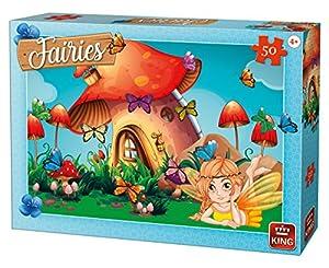 King KNG05805 - Puzzle Infantil (50 Piezas), diseño de Hadas con Mariposas