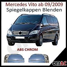 Mercedes Vito W639 Spiegelkappen Spiegel Blenden Abs Chrom 2009-2014
