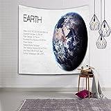 MIAO Tapestry Wand Dekoration 3D Planet Einführung Böhmen Indien Mandala Hippie Tapisserie Bettdecke Tischdecke Picknick Strand Tuch (Farbe : F, größe : 203x150cm)