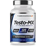 Extreme Testosterone Support for Men Testo-Mx - 120 Veggie Caps - UK Made Lab Tested Testosterone Support - Zinc Booster with Added Tribulus, Maca, & D Aspartic Acid - Thermodrone A Leading UK Brand