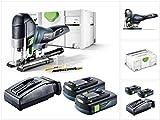 Festool PSC 420 EB Li-Basic Akku Pendelstichsäge CARVEX im Systainer + 2 x BP 18 Li 3,1 Ah Akkupack + TCL 6 Schnell Ladegerät