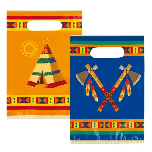 NEU Geschenktüte Indianer Annawan, 6 Stk. (Party Karneval Kostüme Thema)