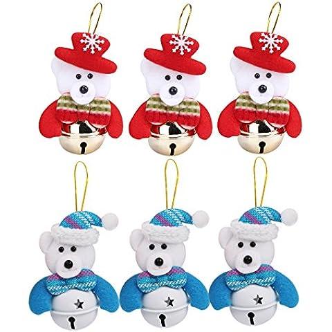 DELEY Campane di Natale Albero di Natale Decorazione Natale Ciondolo Bambola Regali Natale Christmas Tree Decoration Orso