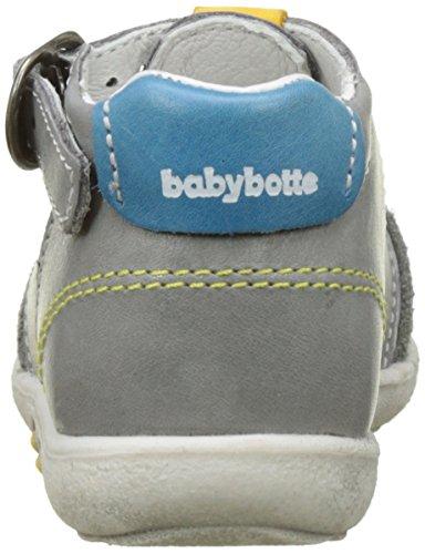 Babybotte Tarawa, Sandales Bout Fermé Garçon Gris (Gris/Bleu)