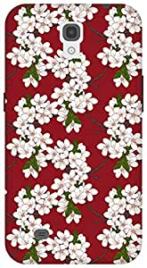 The Racoon Lean Cherry Flowers hard plastic printed back case / cover for Samsung Galaxy Mega 6.3