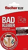 Fischer 545949 Bad Kleber, 2X handliche Portionsbeutel, 2-Komponenten Klebstoff für alle Oberflächen, Rot, Weiß