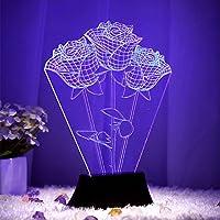 Bluelover Creativo 3D stereoscopico Visual personalizzata decorazione LED lampada salotto romantico regalo -B