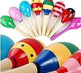 Adatto per il bambino che più di 3 mesi di età.  lucido manubrio è liscia.  Materiale: Legno  Size: 11.5 * 3.5cm / 4.53 * 1.38inch  colore e modello: introduca casuale (Non offriamo la scelta di colore e modello, noi trasmettiamo a caso.)  Pa...