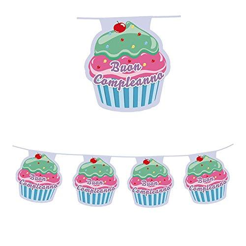 BiG Party Festone Band. in plastica Cupcake mt.6