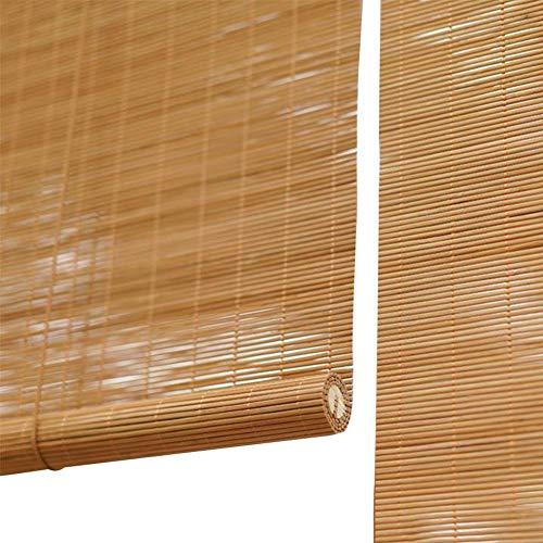 QIANDA Bambusrollo Holzrollo Vorhang Bambus Aufrollen Fensterrollos Plissee-Sonnenbrille, Rollo Verdunkelungsrollo Für Veranda, Unterstützung Angepasst (Color : A, Size : 50x50cm)