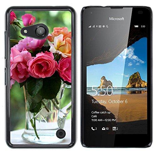 OB-star ( flores de jardín ) NOKIA Lumia 550 Impreso Colorido Protector Duro Espalda Funda Piel De Shell