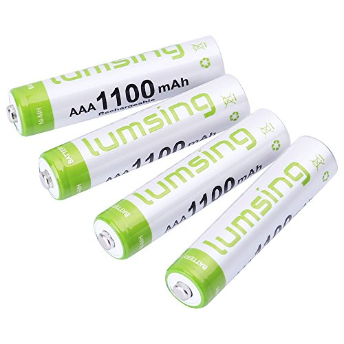 Rechargeable AAA Batteries(4-Counts) Pre-Charged AAA 1100mAh Ni-MH Batteries