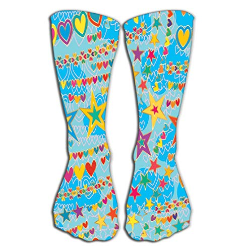 Walnut Cake Hohe Socken Outdoor Sports Men Women High Socks Stocking Design Abstract Tinnitus Wind Blowing Like no Silent Nope Noisy Star Love line Free Flight Style Tile Length ()