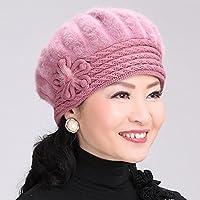 Wenxin0815 Die Ältere Frau Strickmütze Warme Winter Hat Cap Ray Kletten.