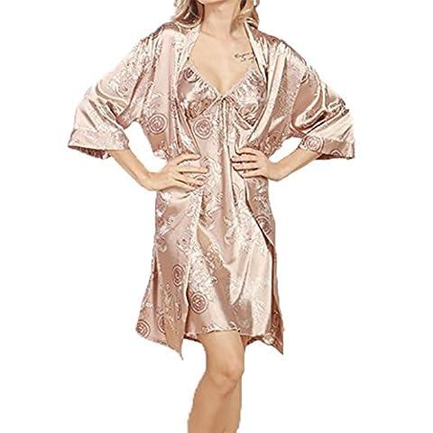 YUYU Frauen Sommer Seide Nachthemden Weiche Geringes Gewicht Mode Pyjamas Glatt , camel , l (Weiche Womens Chemise)