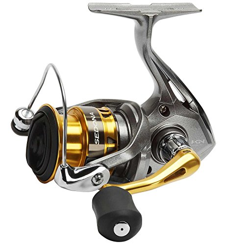 SHIMANO Sedona 500 FI, Spinning Angelrolle mit Frontbremse, SE500FI