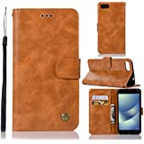 Asus ZenFone 4 Max ZC520KL Leather Wallet Case With Cellphone Case, Danallc Asus ZenFone 4 Max ZC520KL Flip Cover, Cellphone Case, Series Case (Light Brown)