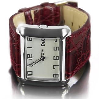 D&G Dolce&Gabbana d&g respect – Reloj analógico de caballero de cuarzo con correa de piel marrón – sumergible a 30 metros