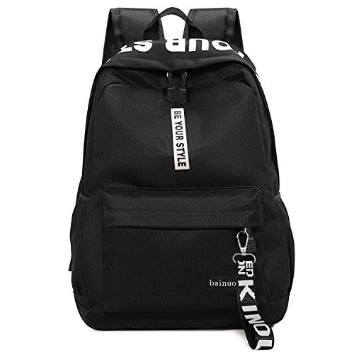 bainuote Schulrucksack Mädchen Canvas Rucksack Damen Schultaschen Schulrucksäcke Daypack Große Kapazität Männer Rucksack für Einkaufen