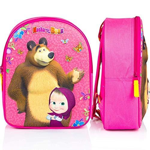 Masha e orso zainetto zaino in 3d scuola asilo tempo libero