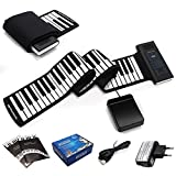 COSTWAY Electronik Keyboard Klavier 88 Tasten Roll Up Piano Silikon Tastatur Faltbar mit Fußpedal flexible