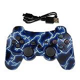 Lioeo PS3 Controller Wireless Gamepad für Playstation 3 Bluetooth Game Controller Fernbedienung Unterstützung PS3 Lightning Blue