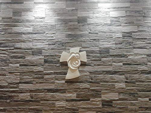 Memory srl crocifissi da parete sacra famiglia resina bianco