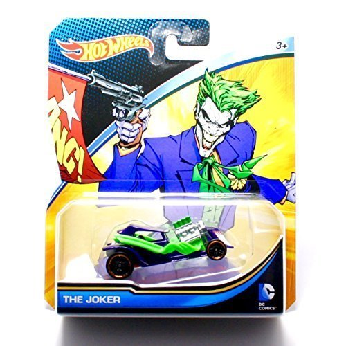 THE JOKER * DC COMICS * 1:64 Scale Hot Wheels Character Vehicle (New 2015 Packaging) by DC Comics
