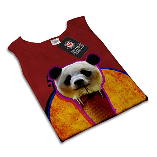 Panda Kegel Platz Tier Köstlich Damen S-2XL Muskelshirt   Wellcoda Rot