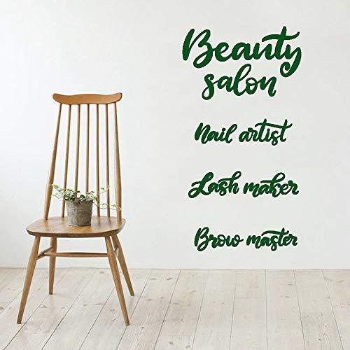 Schönheitssalon Vinyl Wandtattoo Wohnzimmer Schriftzug Nail Artist Lash Maker Stirn Master Wandaufkleber Bad Nordic color-4 74x138cm