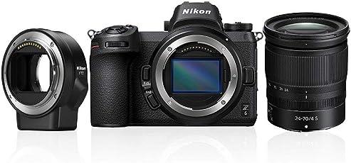 Nikon Z6 System Digitalkamera Kit 24-70 mm 1:4 S + FTZ Bajonettadapter