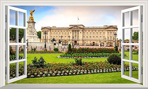 Chicbanners Wandtattoo/Wandaufkleber London Buckingham Palace, 3D V001, selbstklebend, Größe 1000 mm breit x 600 mm tief