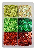 eshoppee DIY kit 150 gm Green red Color Sequins Sitara Jewellery Making Art and Craft do kit Yourself kit, Glitter Sequins Rhinestones Beads