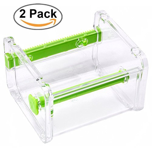 Tape-cutter (2 homdsim Washi Tape Dispenser Cutter, Rolle Tape Holder Organizer, Abdeckband Desktop Tape DIY Aufkleber Rolle Tape Cutter Halter Aufbewahrung grün)