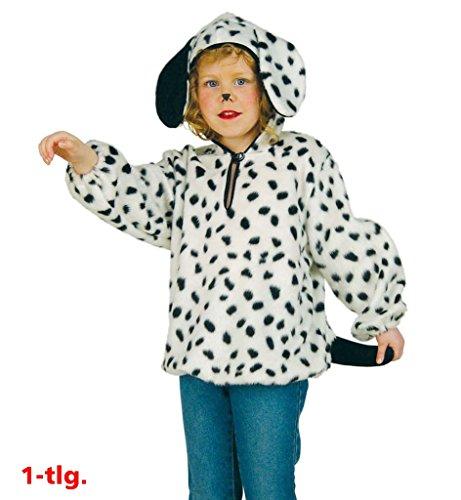 Dalmatinerkostüm Kinderkostüm Dalmatiner Karneval Tierkostüm Hundekostüm Gefleckt Wau Wau Kostüm für Kinder (Kinder Kostüm Dalmatiner Für)