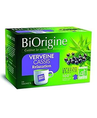 BiOrigine Infusion Verveine Cassis 25 g - Lot de 6