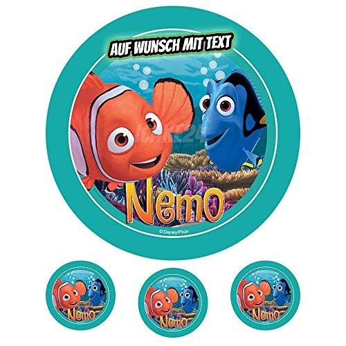 tstag Tortenbild Zuckerbild Oblate Motiv: Disney Findet Nemo (Zuckerpapier) ()