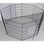 BUNNY BUSINESS 8 Panel Playpen Suitable for Rabbits/Guineas/Dogs and Cats, Small, Black 12