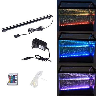 46 CM 18 LED Colorful Air Bubble LED Aquarium Lumière Fish Tank Corail Lampe Tuyau IP68 Étanche sous-Marin RGB LED Lumière