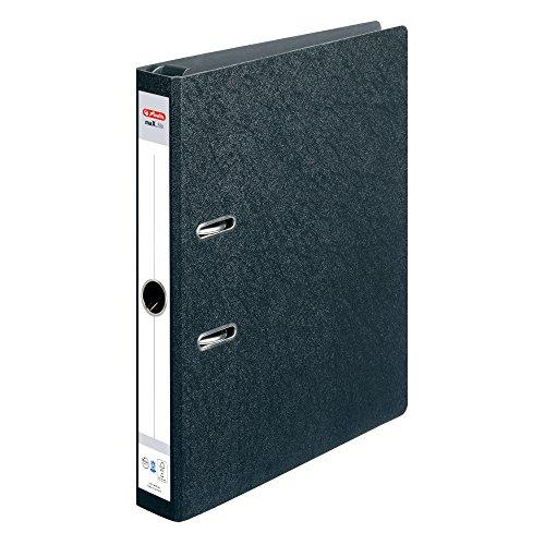 Preisvergleich Produktbild Herlitz 10842292 Hängeordner maX.file, A4, 5 cm, schwarz, aufgeklebtes Rückenschild, FSC Mix