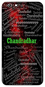 Chandradhar (One Who Wears Moon I.E. Lord Shiva) Name & Sign Printed All over customize & Personalized!! Protective back cover for your Smart Phone : Samsung Galaxy Note-5