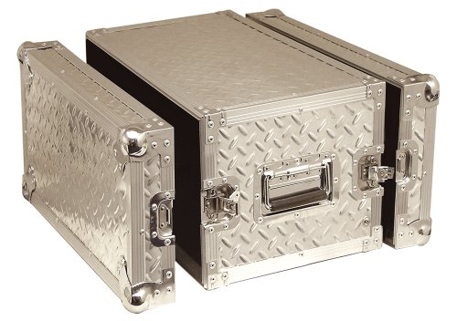 Silver Professional 6U Full Flight Short Rack Case with Front/Back Doors Electrovision SP6UC