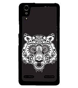 Fuson Designer Phone Back Case Cover Lenovo A6000 Plus :: Lenovo A6000+ :: Lenovo A6000 ( Head Of The Tiger )