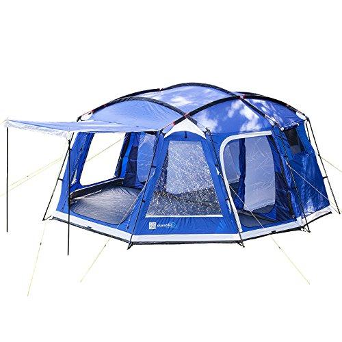 SKANDIKA Copenhagen 8-4026 - Tente de Camping familiale Groupe - 8 Personnes - 520 x 470 cm - Bleu