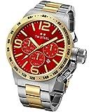 TW Steel Unisex-Armbanduhr Canteen Bracelet Chronograph Edelstahl Silber CB74