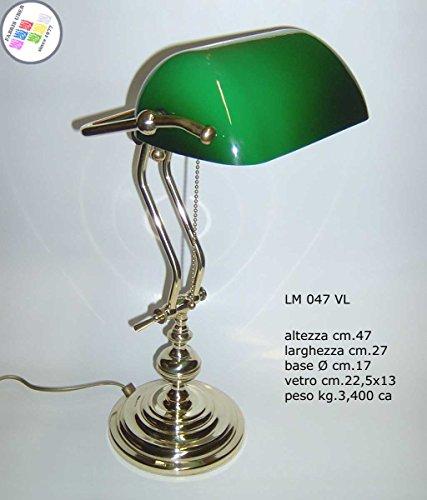 - Churchill Luxus Studio Schreibtisch Sekretär Glas grün Messing poliert verstellbar -