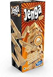 Hasbro Gaming Jenga Classic, children's game that promotes the speed of reaction, from 6+ y